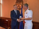 """Кметът Иван Портних се срещна с командира на американския военен кораб """"Портър"""""""
